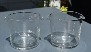 Pair of Antique c19th Crystal Wine Rinsers - VGC