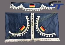 TRUCK SMALL CURTAINS SET with flag FOR SCANIA, DAF, VOLVO, MERCEDES, IVECO