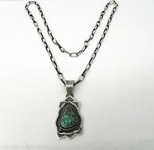 Tommy Jackson Turquoise and Sterling Silver Handmade Necklace