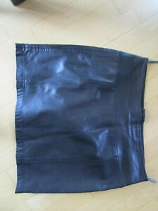 Marc`O Polo Lederrock Rock 100%Leder (Lamm) schwarz Mini Gesamtlänge 45cm