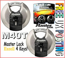 M40T Master Lock EXCELL 2 LOCK PACK Security Level 8 Disc Padlock FREE POST L@@K