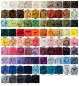 DHG | 85 Colours | 20g | Extra Fine Merino Wool Roving / Top | * MULTI-BUY *