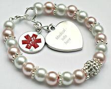 Personalised Warfarin Bracelet Medical Alert  Badge Health Survival Women Kid