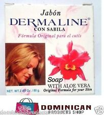 DERMALINE SKIN LIGHTENING MOISTURIZING SOAP 2.85 OZ ALOE VERA VITAMIN E SPOTS