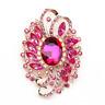 Women's Fashion Crystal Rhinestone Big Flower Charm Betsey Johnson Brooch Pin