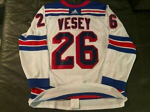 ADIDAS AUTHENTIC ON ICE NEW YORK RANGERS JIMMY VESEY ADIZERO JERSEY sz 52