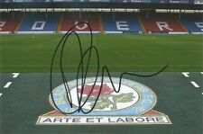 A 6 x 4 inch photo personally signed by Darragh Lenihan  Blackburn Rovers. (2).