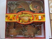 7 Piece Autumn Cookie Cutter Set - NIB - Fox Run Brand! Leaves Squirrel Pumpkin