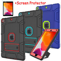 For iPad 10.2 Case 7th Generation Gen 2019 Stand Cover+Screen Protector Friendly