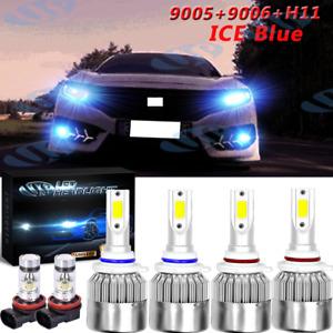 For Honda Civic 2006-2012 2013 2014 LED Headlight High Low Fog Light Bulbs 8000K