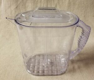 THE PAMPERED CHEF QUICK STIR 1 Gallon Beverage PITCHER 2276 Clear w/ Dot Pattern