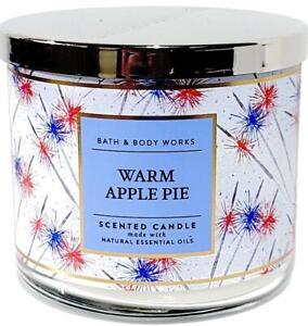 Bath & Body Works Warm Apple Pie USA Style Jar3 Wick Candle