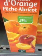 Lot Revendeur Destockage Palette Solderie De 7 Litres Nectar Pêche Abricots