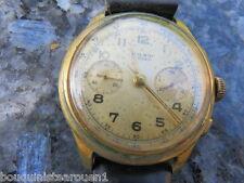 montre chrono chronographe  Wilboi 17 rubis marque Suisse temps heure