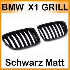 für BMW E84 X1 Grill Nieren Kühlergrill Schwarz Matt Kidney CALANDRE 2009 2013