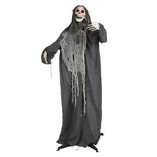 Animated Lifesize Grim Reaper w/ Moving Arms & Head Halloween Decoration