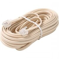 TELEPHONE PHONE 25' EXTENSION CORD (IVORY) ~ LOT OF 30