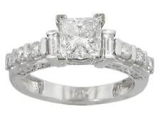 2.28 ct Ladies Princess and Round Cut Diamond Engagement Ring