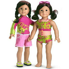 American Girl Jess' 2 in 1 KAYAK OUTFIT swimsuit rashguard set DOLL NOT INCLUDED