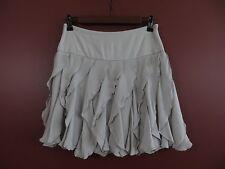 SK03081- INC INTERNATIONAL CONCEPT Misses 100%Silk Skirt Paneled Light Gray Sz 2