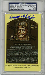 Frank Robinson SIGNED Baseball Hall of Fame Plaque Orioles PSA/DNA AUTOGRAPHED