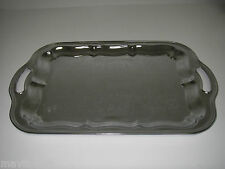 Serving Tray Metal Chrome Plated Irvinware Handled Rectangular Made Usa .