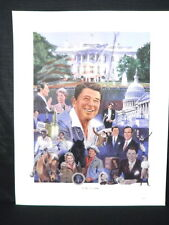 President Ronald Reagan Profile of A Leader George Bush White House Lithograph