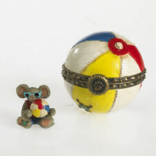 Boyds Bears Gidget's Beach Ball w/Shades McNibble Trinket Box ~ 4033637