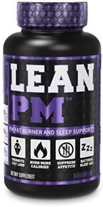 Lean PM Night Time Fat Burner Sleep Aid Supplement, Appetite Suppressant 30 Caps
