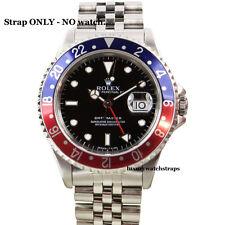 Correa de jubileo de acero sólido PARA ROLEX GMT Master 1675 16750 16710 Reloj 20mm