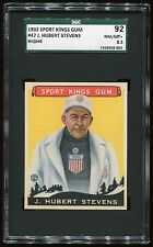 1933 Sport Kings #47 Hubert Stevens *Bob-Sled Racing* SGC 92 NM-MT+ #1368968-005