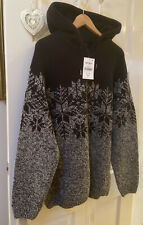 Next Men's Hoody Warm Jumper Crafter For The Individual Size XXL , New With Tags