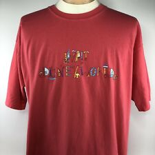Vtg Walt Disney World Spellout Logo Shirt Sz XL Peach Short Sleeve Tee