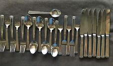 Wallace COLOSSEUM Stainless Flatware glossy 24 piece lot, forks, spoons, knives