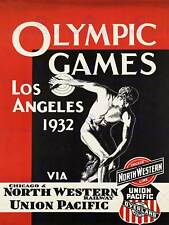 TRAVEL SPORT OLYMPIC GAMES LOS ANGELES DISCUS USA VINTAGE POSTER PRINT 944PY