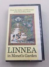 Linnea in Monet's Garden VHS Video Tape Hard Black Case Clamshell Library Copy
