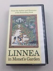 Linnea in Monet's Garden VHS Movie Video Tape Hard Case Clamshell Library Copy