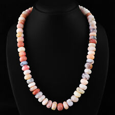 525.00 CTS NATURAL UNTREATED RICH PINK AUSTRALIAN OPAL ROUND BEADS NECKLACE