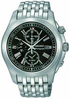 Seiko Men's SNAE31P1 Stainless-Steel Analog Quartz Alarm Chronograph Watch