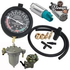 Classic Car Van Mechanical Electrical Fuel Pump & Choke Vacuum Testing Gauge Kit