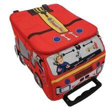 Boys Fireman Sam Novelty Wheeled Case Red Travel Holiday Summer 25 Litres