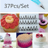37 Piece Cake Decorating Kit Tips Icing Tip Set Tools Pastry Bag Stainless Steel