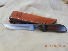 ANZA  HANDMADE FIXED  BLADE KNIFE LAMINATE WOOD HANDLE #859 NEW MODEL
