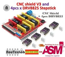 CNC Shield V3 Expansion Board + 4pcs DRV8825 Stepper Motor Driver for 3D Printer
