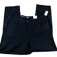 Style & Co Womens Jeans Size 20W Blue Straight Leg Low Rise Dark Rinse Plus New