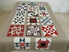17+Vintage+Maybe+IOWA+All+Cotton+SAMPLER+Quilt+Blocks%2C+Some+Signed%3B+12%22+Sq+Each