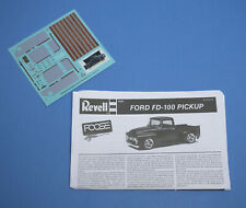 Revell 1956 Ford FD-100 Foose Pickup, Decals & Instructions 1/25 Scale