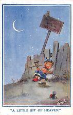 POSTCARD   COMIC   CHILDREN   A  little  bit  of  heaven           Gilson