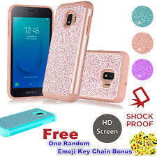 For Samsung Galaxy J2 Pure/Core/Shine/Dash Bling Glitter Hybrid Case with Screen