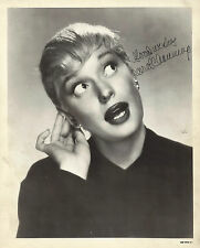 "Carol Channing (Signed) ""GENTLEMEN PREFER BLONDES"" 1949 Double-Weight Photo"